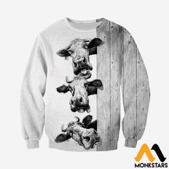 3D Printed Funny Cows Clothes Long-Sleeved Shirt / Xs