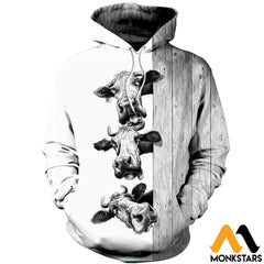 3D Printed Funny Cows Clothes Normal Hoodie / Xs