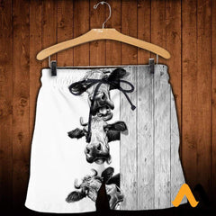 3D Printed Funny Cows Clothes Shorts / Xs