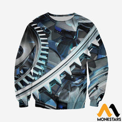 3D Printed Gear Clothes Long-Sleeved Shirt / Xs