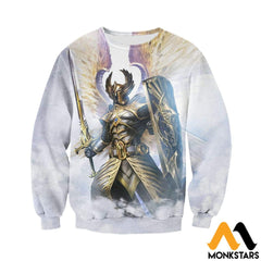 3D Printed God Of Light Clothes Long-Sleeved Shirt / Xs