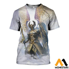3D Printed God Of Light Clothes T-Shirt / Xs