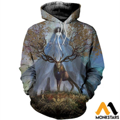 3D Printed Godness Deer Clothes Normal Hoodie / Xs