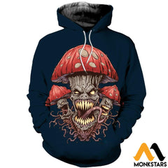 3D Printed Halloween Skull Clothes Normal Hoodie / Xs
