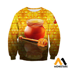 3D Printed Honey Clothes Long-Sleeved Shirt / Xs