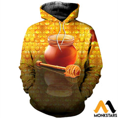 3D Printed Honey Clothes Normal Hoodie / Xs