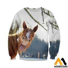3D Printed Horse Clothes Long-Sleeved Shirt / Xs