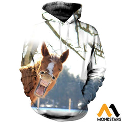 3D Printed Horse Clothes Normal Hoodie / Xs