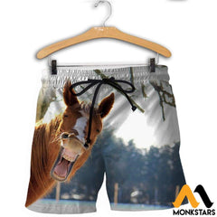 3D Printed Horse Clothes Shorts / Xs