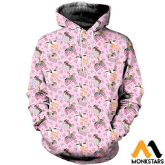3D Printed Horse Racing Floral Clothes Normal Hoodie / Xs