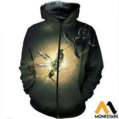 3D Printed Hummingbird Clothes Zipped Hoodie / Xs