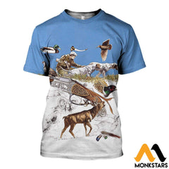 3D Printed Hunting Clothes T-Shirt / Xs