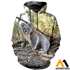 3D Printed Koala Clothes Normal Hoodie / Xs