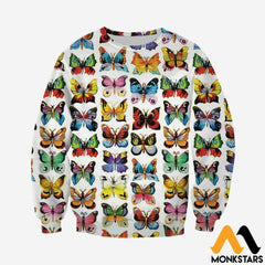 3D Printed Love Colorful Butterflies Clothes Long-Sleeved Shirt / Xs