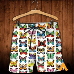 3D Printed Love Colorful Butterflies Clothes Shorts / Xs