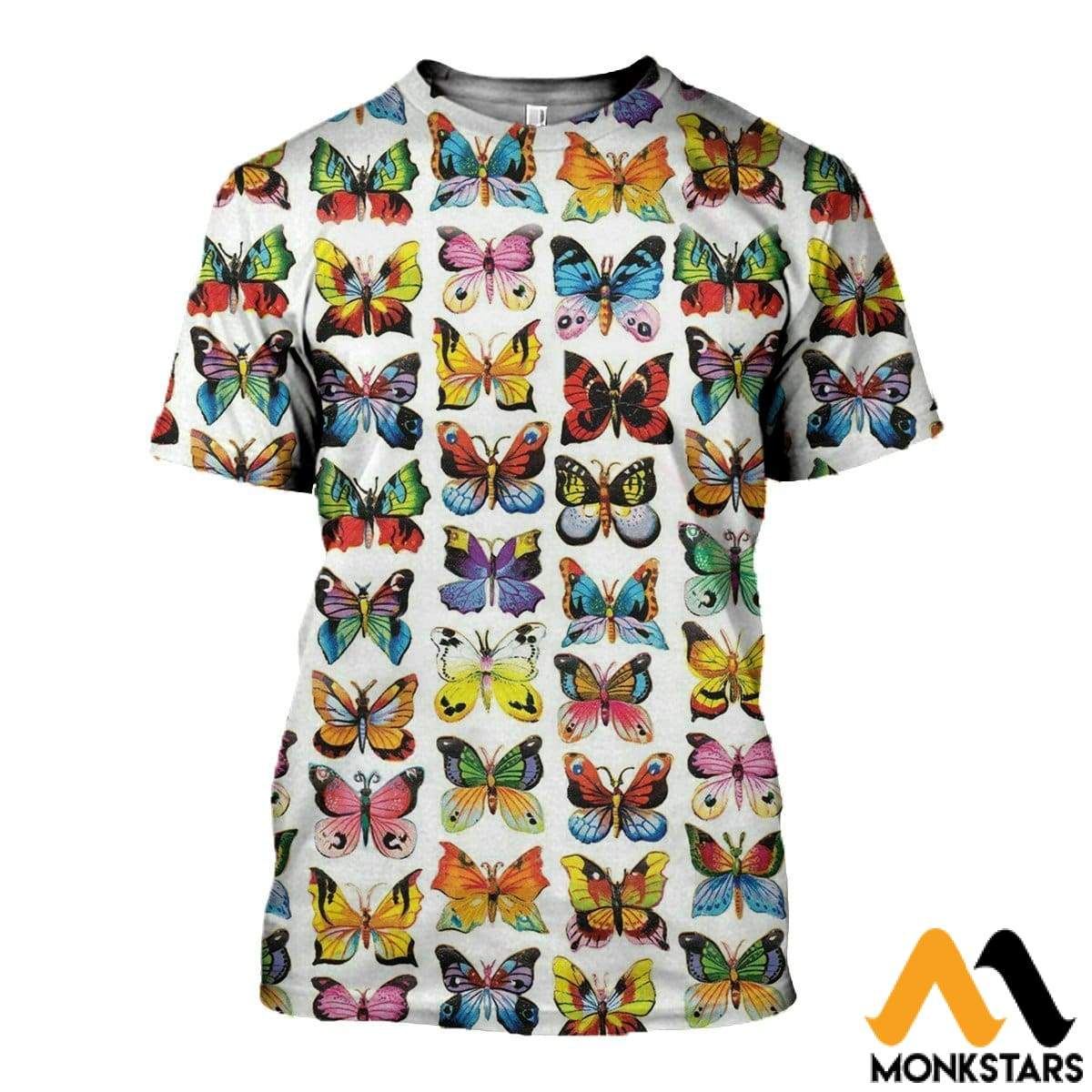 3D Printed Love Colorful Butterflies Clothes T-Shirt / Xs