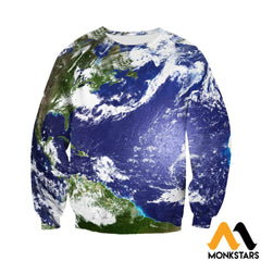 3D Printed Love Earth Clothes Long-Sleeved Shirt / Xs