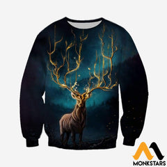 3D Printed Mystery Deer Clothes Long-Sleeved Shirt / Xs