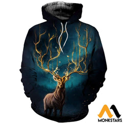 3D Printed Mystery Deer Clothes Normal Hoodie / Xs