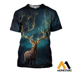 3D Printed Mystery Deer Clothes T-Shirt / Xs
