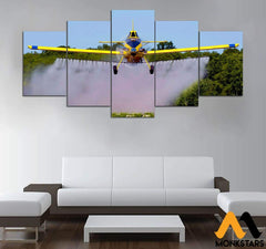 5-Piece Air Tractor On The Farm Printed Canvas Wall Art Tractor
