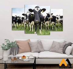 5-Piece Dairy Cattle Printed Canvas Wall Art Wall Art