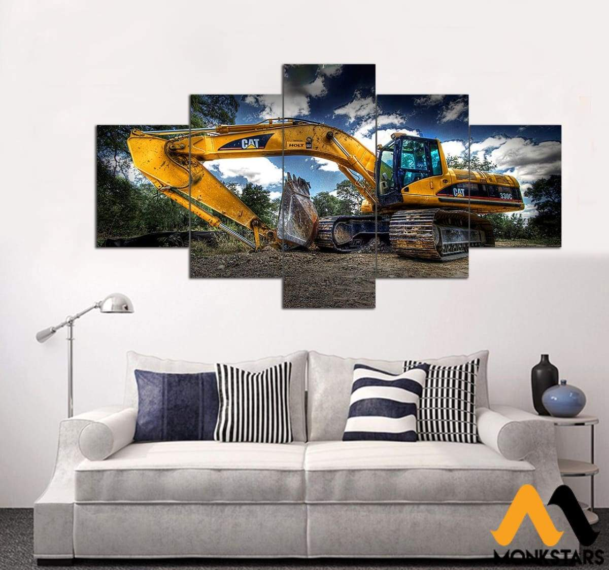 5-Piece Excavator Printed Canvas Wall Art Scgl070511 Painting & Calligraphy
