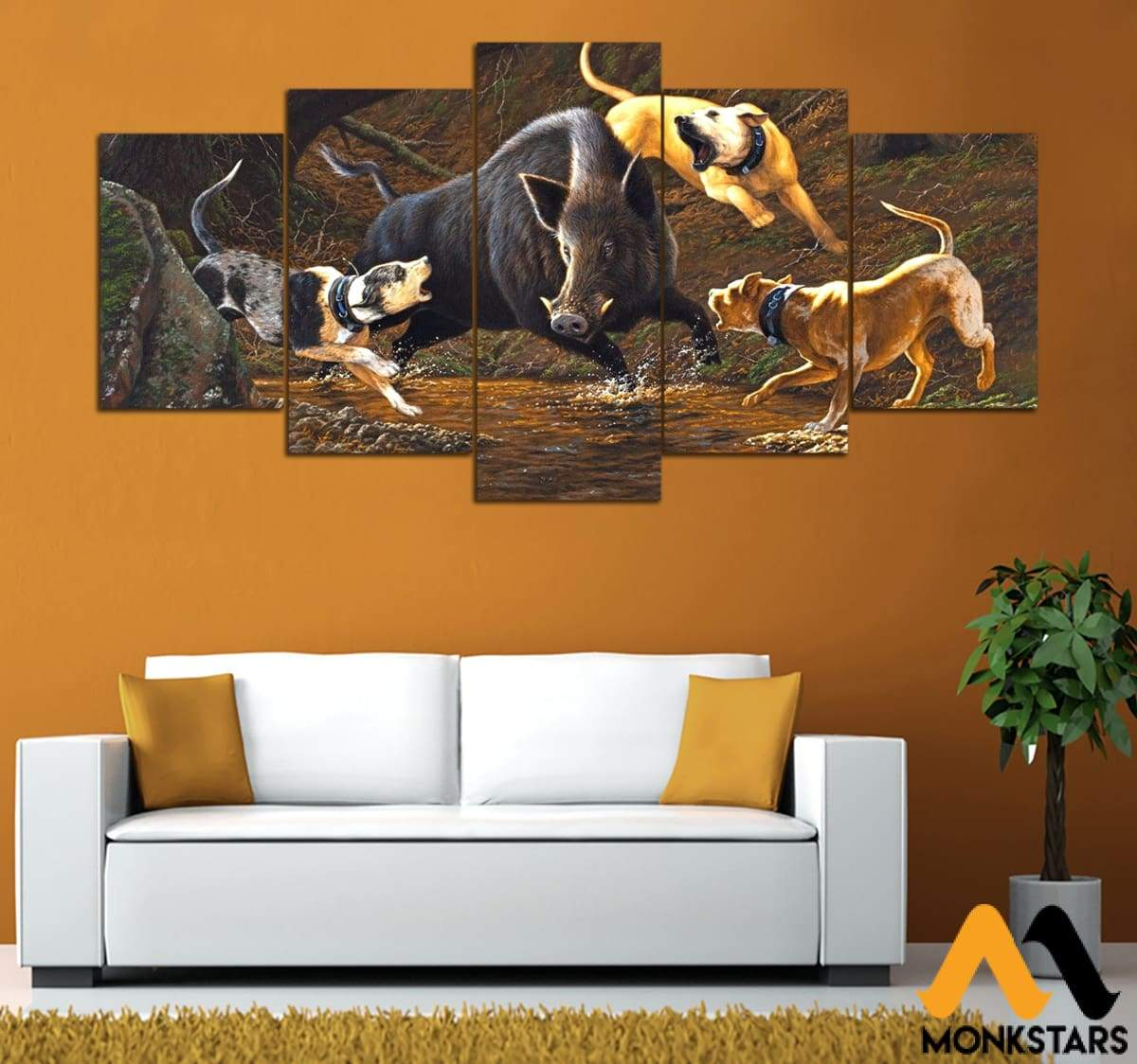 5-Piece Hunting Printed Canvas Wall Art Wall Art