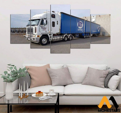 5-Piece Truck Printed Canvas Wall Art Wall Art