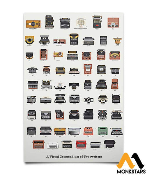 A Visual Compedium Of Typewriters Poster 16X24