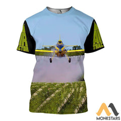 Air Tractor 3D All Over Printed Shirts For Men & Women T-Shirt / S Clothes