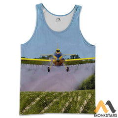 Air Tractor 3D All Over Printed Shirts For Men & Women Tank Top / S Clothes