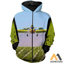 Air Tractor 3D All Over Printed Shirts For Men & Women Zip Hoodie / S Clothes