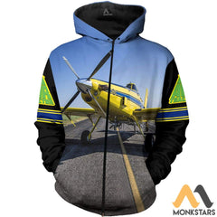 Air Tractor 502Xp 3D All Over Printed Shirts For Men & Women Zip Hoodie / S Clothes