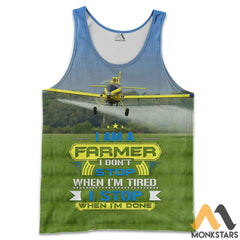 Air Tractor At-502 3D All Over Printed Shirts For Men & Women Tank Top / S Clothes