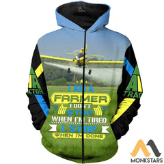 Air Tractor At-502 3D All Over Printed Shirts For Men & Women Zip Hoodie / S Clothes