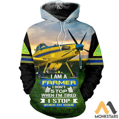 Air Tractor Im A Farmer 3D All Over Printed Shirts For Men & Women Hoodie / S Clothes
