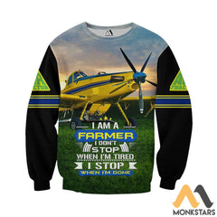Air Tractor Im A Farmer 3D All Over Printed Shirts For Men & Women Long-Sleeved Shirt / S Clothes