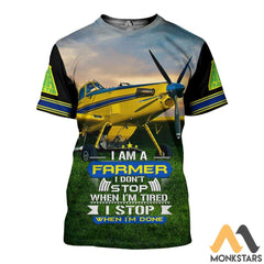 Air Tractor Im A Farmer 3D All Over Printed Shirts For Men & Women T-Shirt / S Clothes