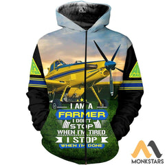 Air Tractor Im A Farmer 3D All Over Printed Shirts For Men & Women Zip Hoodie / S Clothes