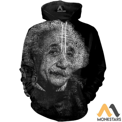 Albert Einstein 3D All Over Printed Shirts For Men & Women Normal Hoodie / Xs Clothes