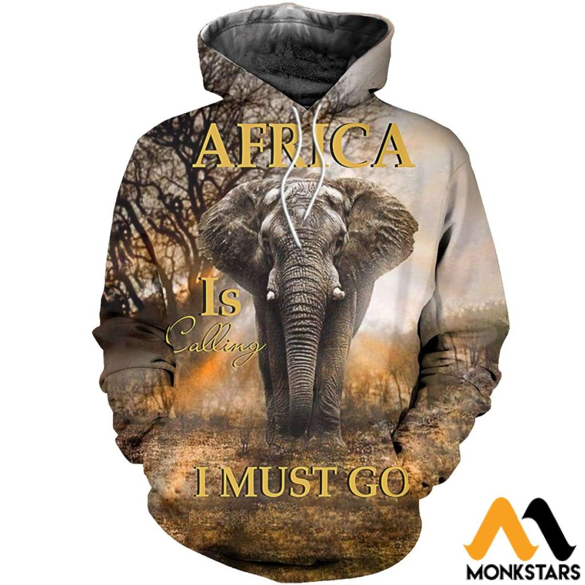 6d0c1b08b807 All Over Printed Elephant In Africa Shirts And Shorts Normal Hoodie   Xs 3D  Clothes