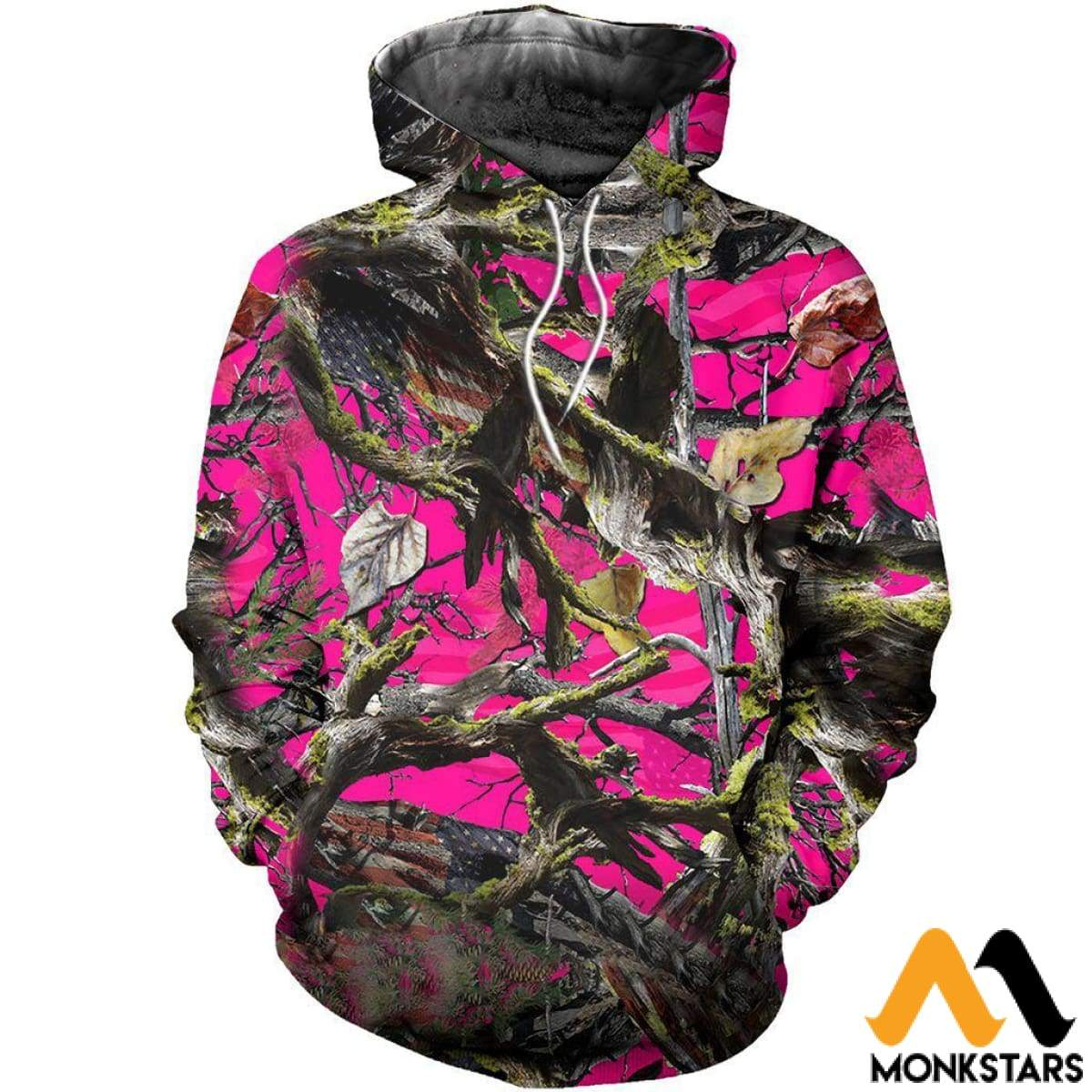 207d03b4848c American Camo Pink 3D All Over Printed Shirts For Men   Women Normal Hoodie    Xs