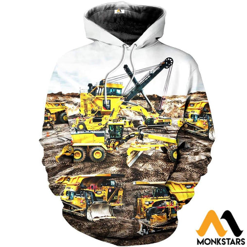 Beautiful Heavy Equipment Art 3D All Over Printed Shirts For Men & Women Normal Hoodie / Xs Clothes