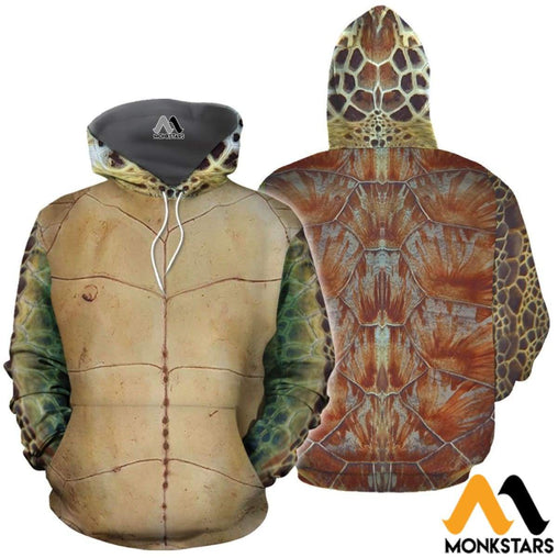Beautifull Turtle Cover 3D All Over Printed Shirts For Men & Women Normal Hoodie / Xs Clothes