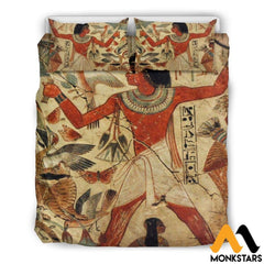 Bedding Set - Ancient Egyptian Words Beige / Queen/full