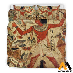 Bedding Set - Ancient Egyptian Words Black / King
