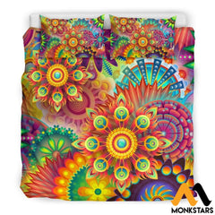 Bedding Set - Colorful Abstract Beige / King