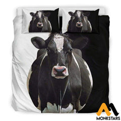Bedding Set - Dairy Cow Black / Us King Set
