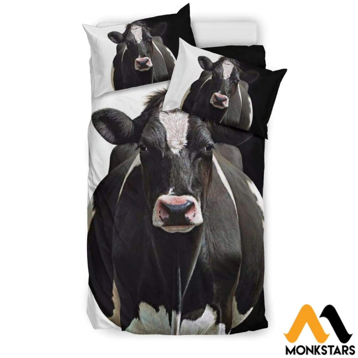 Bedding Set - Dairy Cow Black / Us Twin Set